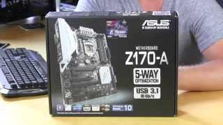 ASUS Z170-A Motherboard Unboxing & Overview
