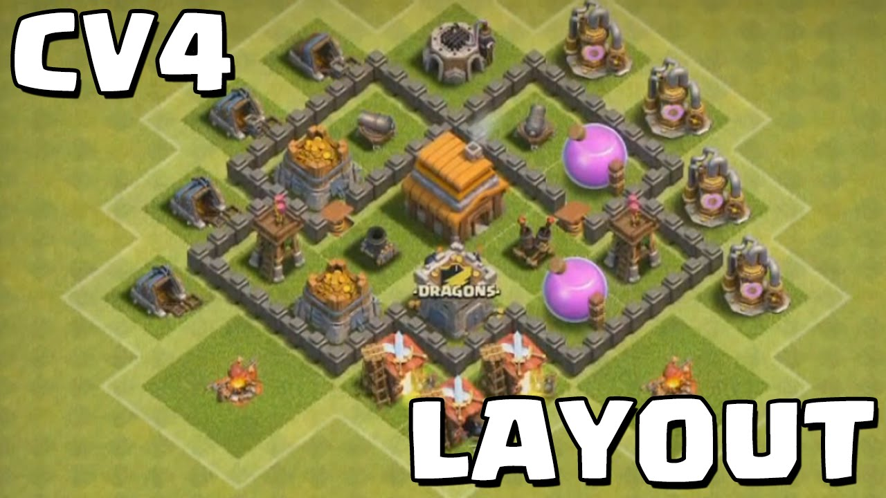 clash of clans cv4 layout - Layout Cv 4 Clash Of Clans