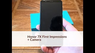 Honor 7X First Impressions + Camera