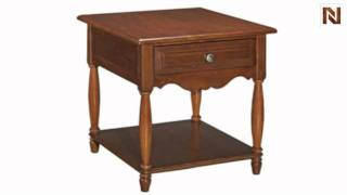 Kincaid 68-022 American Journal Drawer End Table-stain
