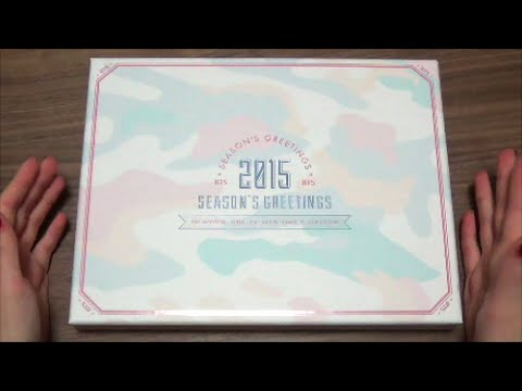 Unboxing bts bangtan boys 2015 seasons greetings youtube m4hsunfo
