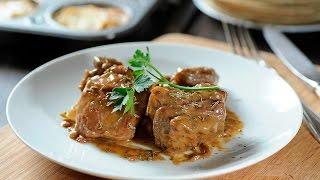 Pork chops in honey mustard sauce Mexican Food
