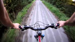 Veho Muvi HD10 DIY chest mount 2nd ride.MOV