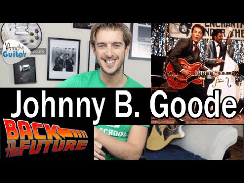 Johnny B. Goode LEAD & Rhythm Guitar Tutorial - Chuck Berry/ Marty Mcfly - Back To The Future