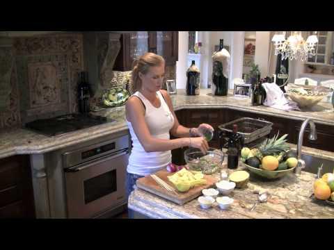 Malibu Seaside Chef Gina Clarke makes Garlic Shrimp and Pineapple Kabobs