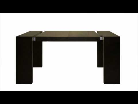 la table console extensible solution maison gain de place youtube. Black Bedroom Furniture Sets. Home Design Ideas