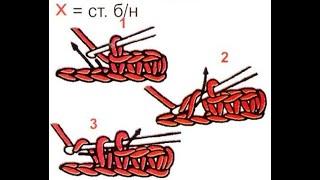 Уроки вязания крючком для начинающих. Урок №2. Столбики без накида.