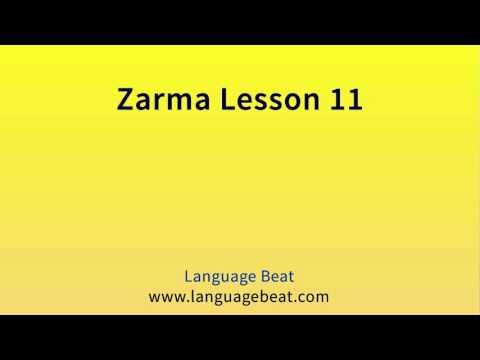 Learn Zarma   :  Lesson 11  -  Zarma  Phrases for Beginners