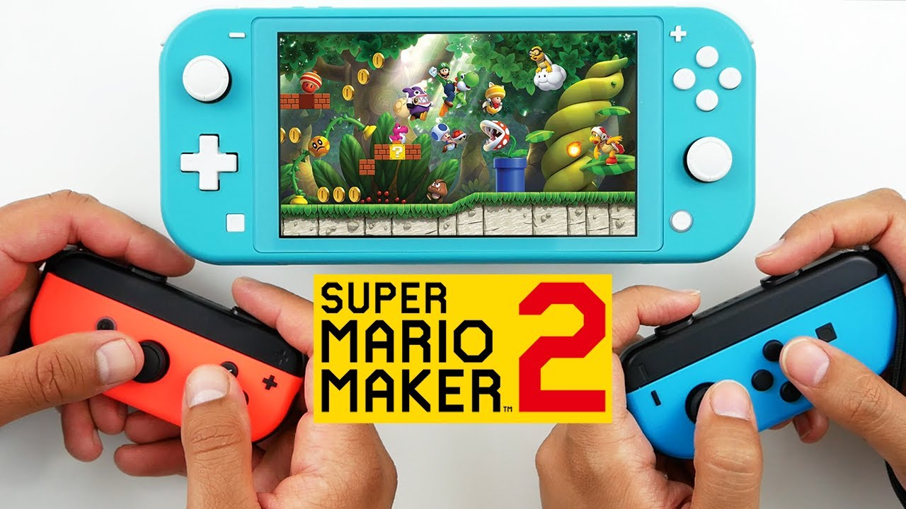 2 Player Coop Super Mario Maker 2 Gameplay on Nintendo Switch Lite