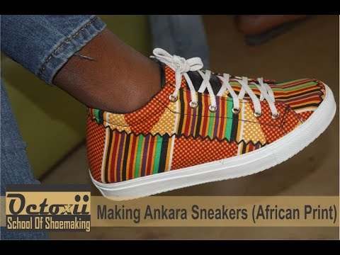 b011f8b56 Making Ankara Sneaker (African Print) - YouTube