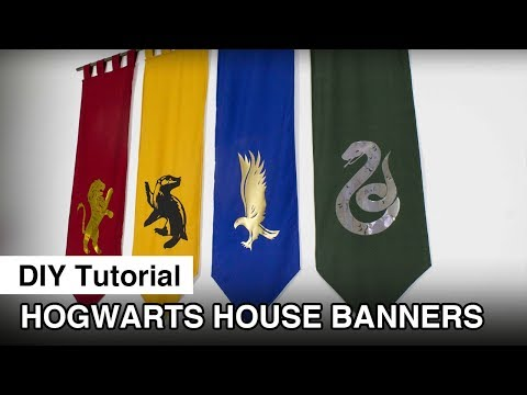 Hogwarts House Banners DIY - Harry Potter Party Decoration