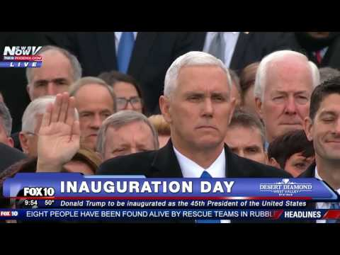The Swearing In Of Mike Pence As Vice President Of The United States