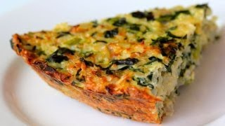 Spinach, Feta, And Brown Rice Pie Recipe