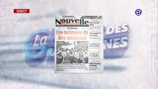LA REVUE DES GRANDES UNES DU JEUDI 29 AOUT 2019 - ÉQUINOXE TV