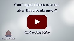 Can I Open A Bank Account After Filing Bankruptcy?