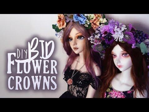 Make a flower crown with me! [BJD Crafts]
