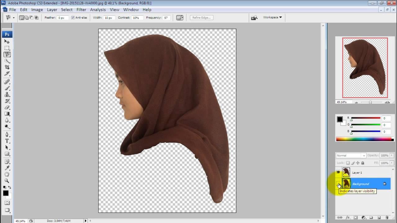 Download Tutorial membuat Siluet dengan Adobe Photoshop CS3