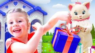 Stacy bauen Spielhäuser für freunde