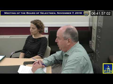 Pembroke Board of Selectmen  November 7, 2016