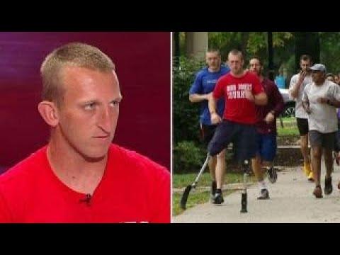 Double amputee Marine veteran runs 31 marathons in 31 days