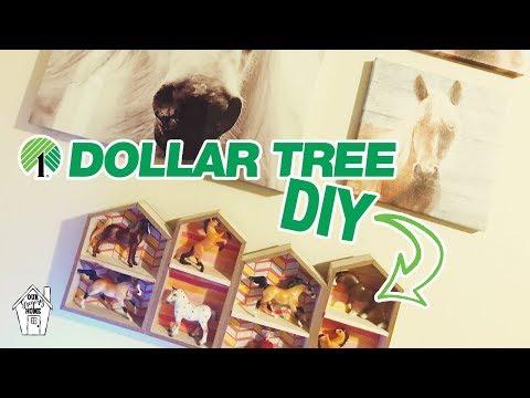 DIY GIRLS ROOM HORSE SHELF OUT OF DOLLAR TREE ITEMS! | DIY DOLLAR TREE SHELF