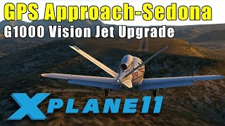 X-Plane 11: GPS Approach at Sedona in the Updated G1000 Vision Jet