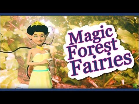 The Magic Forest Fairies - HD 3D Animation Pixie Dust Poem for kids - DizzyMoonTV