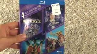 4 Film Favorites Blu-Ray Collection Unboxing - Willy Wonka Scooby Doo Beetlejuice