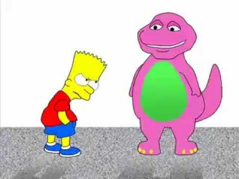 bart kills barney the dinosaur