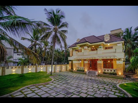 Colonial Style Luxury Indian Home Designs_Kerala home designing 2019