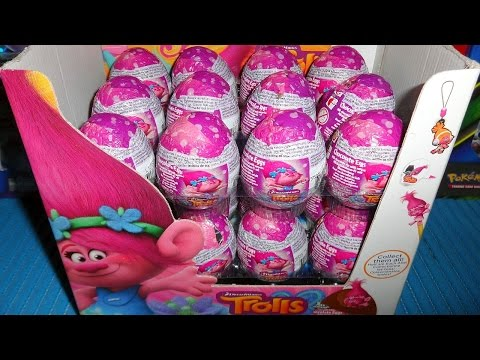 2016 DreamWorks Trolls Movie 24 Chocolate Surprise Eggs - Toys ??? Unboxing