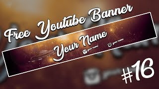 Free Youtube Gaming Banner Template #16