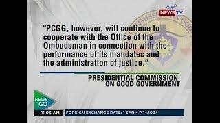NTG: Pahayag ng PCGG