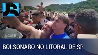 Bolsonaro tem dia de descanso no Guarujá, litoral de São Paulo