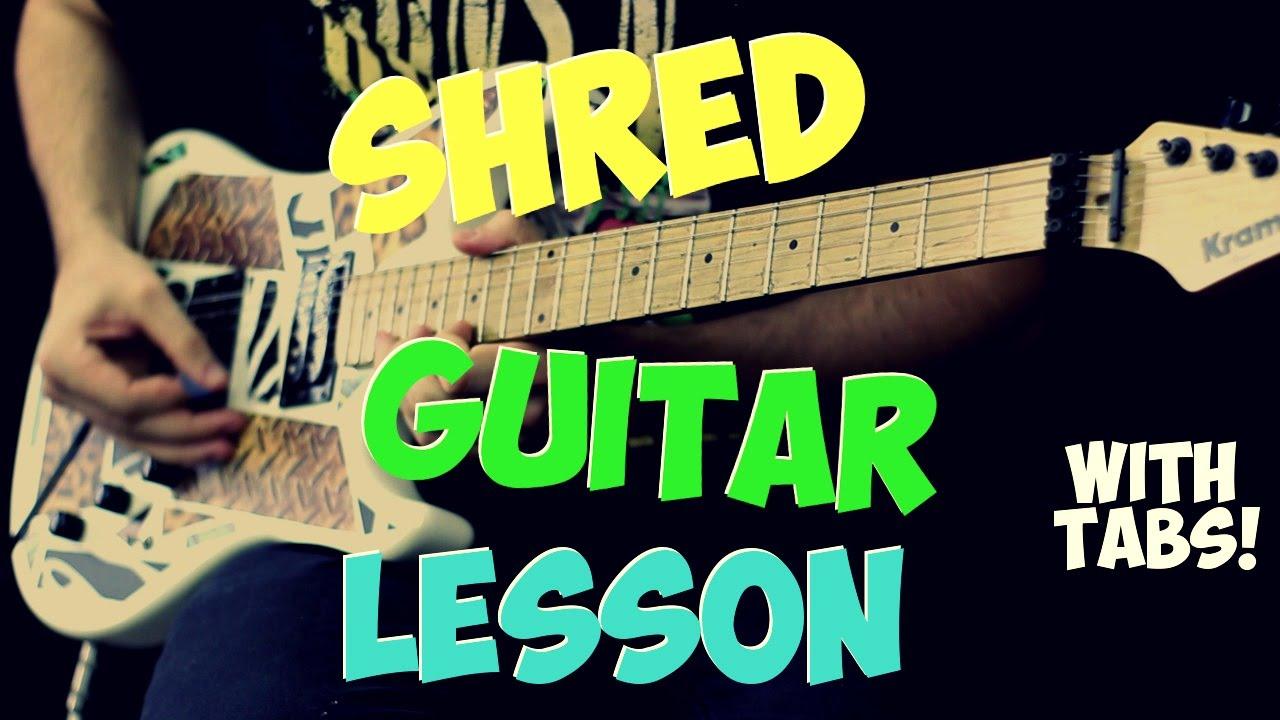 beginner shred guitar lesson with tabs youtube. Black Bedroom Furniture Sets. Home Design Ideas