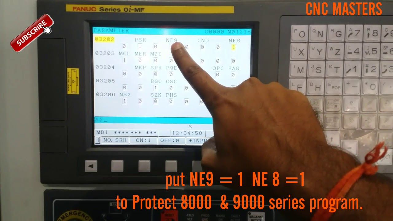 PROTECT 8000 & 9000 SERIES program On Fanuc Controller // By CNC programmer  in hindi and english