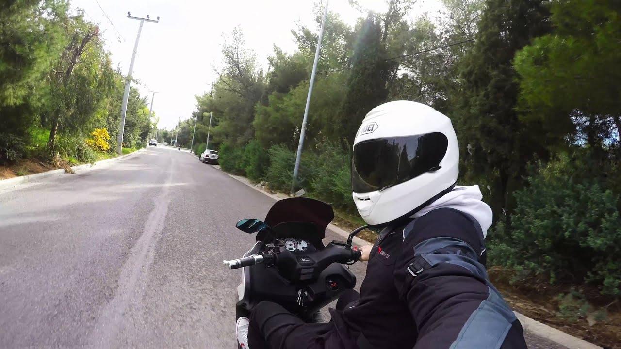 Dirt Bike Helmet With Visor >> White Shoei Helmet With Black Visor - YouTube