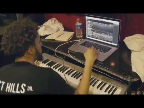J Cole Making Beat On His Tour Bus