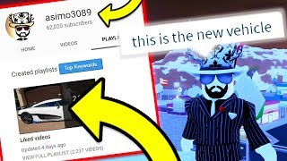 ASIMO LEAKED NEW CAR BY ACCIDENT!? Jailbreak New Update Vehicle | Roblox Jailbreak Winter Update