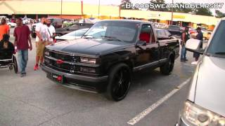 blacked out chevrolet c k 1500 454 ss on 26s 454ss