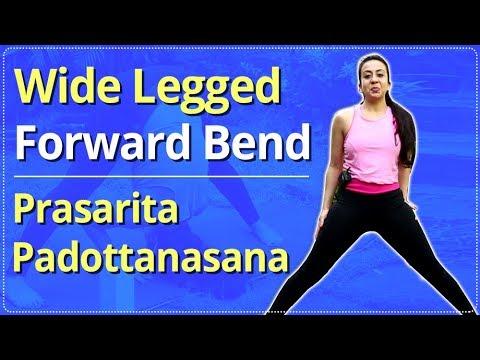 how to do wide legged forward bend  prasarita