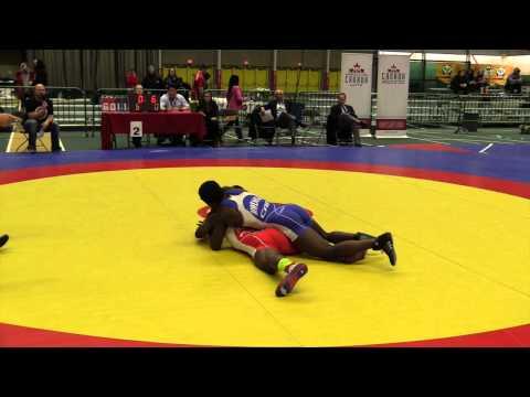 2014 Senior Greco-Roman National Championships: 59 kg Dylan Williams vs. Promise Mwenga