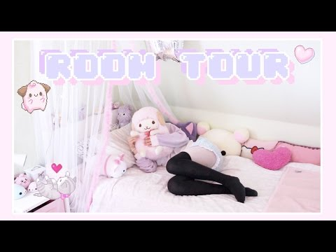CLEANING AND REDECORATING \u0026 ♡ ROOM TOUR 2017 ♡