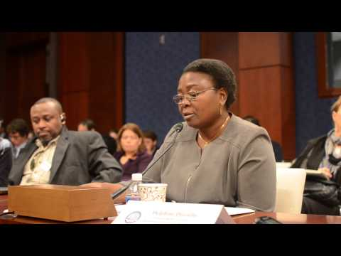 Delphine Djiraïbé: Tom Lantos Hearing on World Bank Lending & Human Rights, Chad