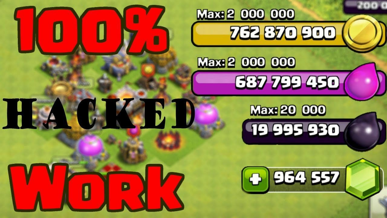 How To Download Clash Of Clans Hack Mod 100 Percent Working Youtube