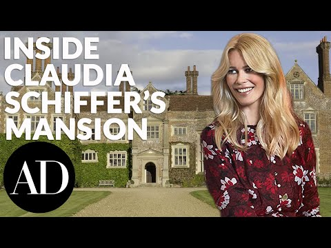 Inside Claudia Schiffer and Matthew Vaughn's Mansion | Celebrity Homes | Architectural Digest