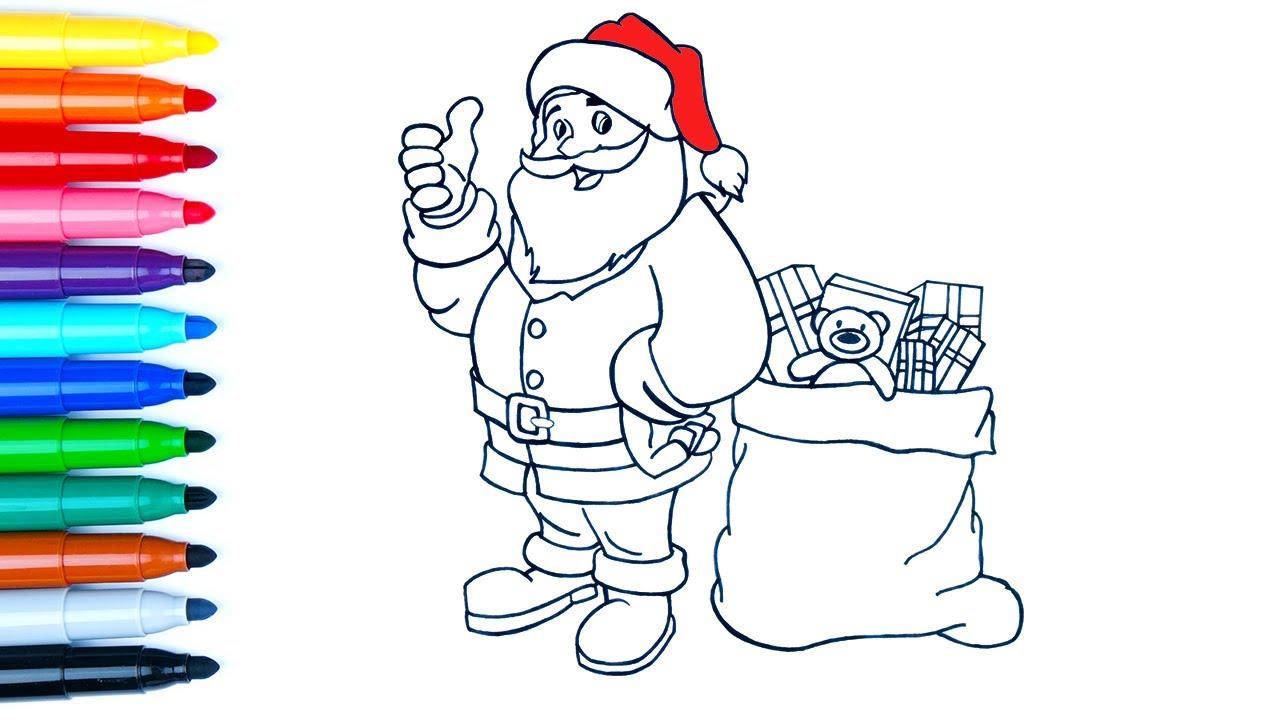 Noel Baba Nasil Cizilir Yeni Yil Cocuklar Icin Boyama How