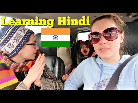 My Sister Teaches Me Hindi 🇮🇳 American Tries Indian Language