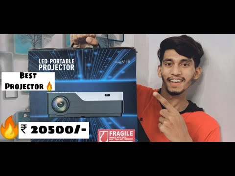 AUN M18 Full HD LED Projector Unboxing  & Full Review | Shaikh afraaz |