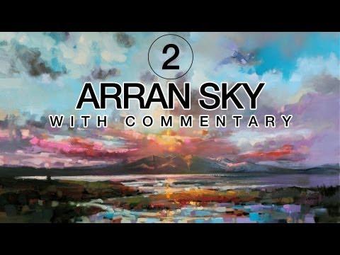 Seascape Oil Painting: Arran Sky Part 2